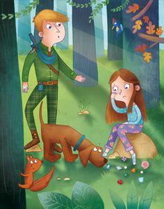 www.elisapaganelli.com #elisapaganelli #elliepage #illustration #wood #forest #dog #prince #fairytale #tale #princess