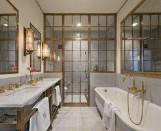 Design by S.B. Long Interiors Bathroom Lighting Inspiration, Best Bathroom Lighting, Spa Like Bathroom, Bathroom Layout, White Bathroom, Small Bathroom, Bathroom Ideas, Bathroom Inspo, Bathroom Designs
