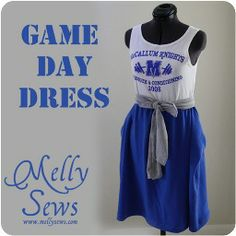 Tutorial: Game Day dress to show team spirit · Sewing   CraftGossip.com