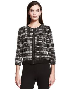 Autograph Bumble Stitch Knitted Jacket with Wool-Marks & Spencer
