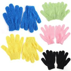 Hearty 4pcs Exfoliationg Gloves Bath And Shower Cleansing Smooth Soft Face Legs Body Hot Seling Bath & Shower Bath