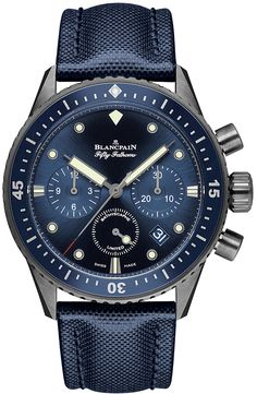 5200-0240-52a Blancpain Fifty Fathoms Bathyscaphe Flyback Chronograph 43mm Mens Watch