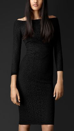 Tiled Motif English Lace Dress | Burberry