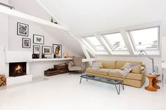 A wonderful white Norwegian loft space... ...bureauofjewels/etsy and facebook...XXX