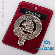 Dunbar Clan Crest Pewter Cap Badge. Free worldwide shipping available