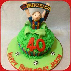 No1 Barcelona FC Fan cake  by Piece of Cake, Gibraltar.