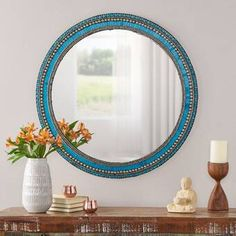 Bungalow Rose Camelford Mosaic Global Inspired Accent Mirror | Wayfair