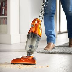 VonHaus 2 in 1 Corded Lightweight Stick Vacuum Cleaner and Handheld Vacuum Bagless with HEPA Filtration, Crevice Tool and Brush Accessories - Ideal for Hardwood Floors. Get The Best Vacuum, Buy Now! Best Cheap Vacuum, Best Vacuum, Upright Vacuum Cleaner, Handheld Vacuum Cleaner, Vacuum Cleaners, Best Lightweight Vacuum Cleaner, Shark Vacuum, Vacuum Reviews, Cool Dorm Rooms