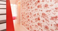 Mike Diamond of the Beastie Boys wanted a Brooklyn-inspired toile wallpaper to line the walls of his Cobble Hill brownstone. He approached us to execute his vision artistically and Flavor Paper to produce the design as wallpaper. Toile Wallpaper, Boys Wallpaper, Hall Wallpaper, Amazing Wallpaper, Wallpaper Maker, Nursery Wallpaper, Custom Wallpaper, What Is Education, 70s Decor