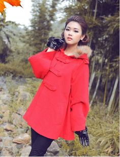 fashionable Hot Stylish Fashion Hooded Woolen Trench Coats