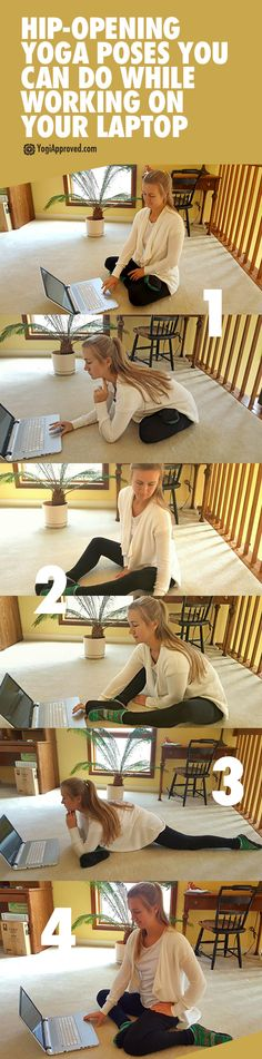 4 Hip-Opening Yoga Poses You Can Do While Working on Your Laptop