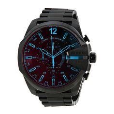 Diesel Mega Chief Black Ion-plated Stainless Steel Men's Watch DZ4318 - Diesel - Shop Watches by Brand - Jomashop