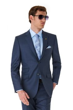 bac2562c5d6cd9 Ted Baker Tailored Fit Navy Suit Wedding Groom