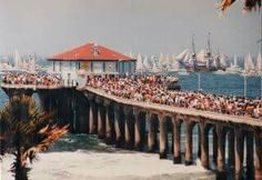 """32 years ago!!!! For the opening celebration of the 1984 L.A. Olympics, there was a July 4 """"Tall Ship Parade of Sail"""" past the pier with a parade of both large sailing ships and small sail boats. There were thousands of viewers for this event"""