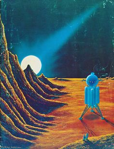 'Exploring Venus' by Morris Scott Dollens on the front cover of fanzine RBCC issue 103 1973
