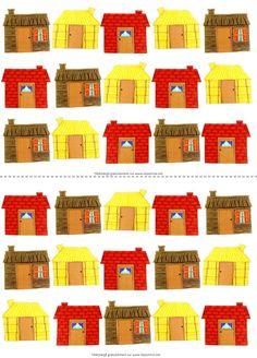Tableau de présence                                                       … Petite Section, Traditional Tales, Three Little Pigs, Preschool, Presents, Album, Activities, Holiday Decor, Children