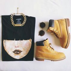 Black-and-Gold + Timberland = What i love