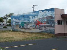 One of several fantastic murals in Eureka, Ca.
