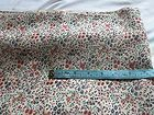 """1 3/4 yds fabric cotton/rayon blend tiny floral print beige ground 1 yd 29""""x 45"""" - #floral, beige/, BLEND, cotton/rayon, fabric, ground, Print, Tiny"""