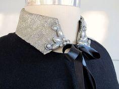30 Absolutely Fabulous Collars to Make – DIY Fashion Sense Beaded Collar, Collar And Cuff, Crochet Collar, Star Necklace, Collar Necklace, Diy Necklace, Fashion Details, Diy Fashion, Golas Peter Pan