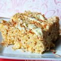Toasted coconut and coconut creme instant pudding make everyone's favorite rice krisipie treat irresistible! I have always been a coconut fan, but I know there are some people that absolutely hate it. Cereal Treats, Paleo Cereal, Quinoa Cereal, Trix Cereal, Baby Cereal, Granola Cereal, Healthy Cereal, Cereal Bars, Delicious Desserts