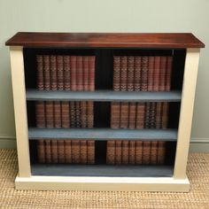 Victorian Antique Painted Open Bookcase