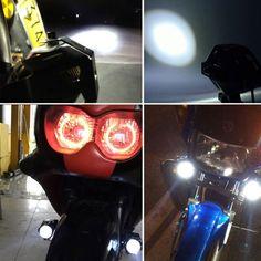U7 LED Motorcycle Headlight LED Chip Devil Angel Eye Fog DRL Daytime Running Spotlight (DC 12-80V)