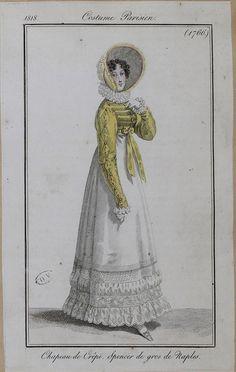 Regency Dress, Regency Era, Vintage Costumes, Vintage Outfits, Middle Age Fashion, 18th Century Fashion, 19th Century, Civil War Dress, Fashion Illustration Vintage