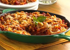 Skillet Lasagna - I love that you cook the noodles in the sauce, a true one-pot meal