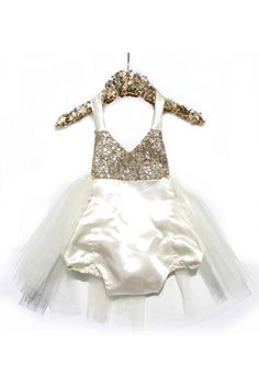 2942e96fedaa Birthday Belle Ivory Sparkle Romper READY TO SHIP  BelleThreadsPinterest   bellethreads Cute Little Girls