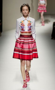 Semana de Moda de Milão - primavera / verão 2014 - (Alberta Ferretti)