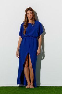 Blue Peek-A-Boo Maxi  #shopzafira #dress #maxi #maxidress #kimono #springfashion #summerfashion #springfashiontrends #summerfashiontrends #madeincanada #fashiontrends #springtrends #summertrends