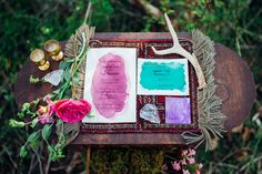 watercolor wedding invitations | Paula Bartosiewicz Photography | see more on: http://burnettsboards.com/2014/06/winner-is/ #weddinginvitations