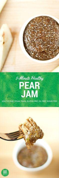 Pear Recipe | 5-Minute Healthy Pear Jam
