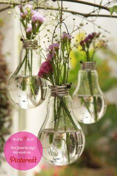 Light bulb vase DIY from Free People Blog