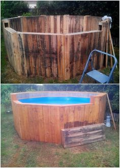 Kids love to play around all the time that do make them healthy and active. But in summer season besides letting your kid playing out in summer heat, you can arrange a beautiful swimming pool creative working of activity for them. In such situation, wood pallet swimming pool project is the best option.