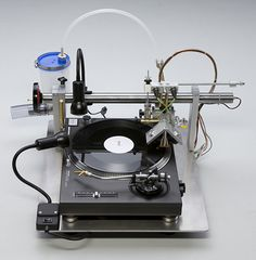 Record your own vinyl records at home with the VinylRecorder T560. The device is a groove cutter to be used with your home turntable. Somehow, 3200 Euros sounds strangely affordable....