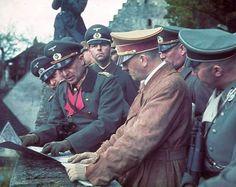 Hitler and Himmler during the war