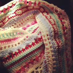 Crochet blanket progress by labybird.ladybird, via Flickr