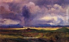 Carl Blechen Bad Weather in the Roman Campagna, painting Authorized official website