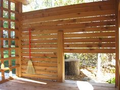 playhouse interior...love the idea of hanging a broom for the kiddos to clean house!