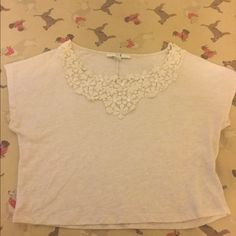 Flowery top from Forever21 This top is in good condition with flowers at the top. I bought it and then decided I didn't really like it because cream color doesn't look good on me. Forever 21 Tops Blouses