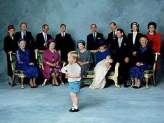 Prince William not cooperating for the family portrait for Prince Harry's christening.
