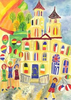 9 Mai, Big And Rich, Activities For Kids, Wallpaper, Painting, Geography, Europe, Children Activities, Wallpapers