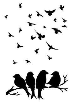 Details about bird stencil 5 sizes craft fabric furniture wall art Stencil Templates, Stencil Patterns, Stencil Designs, Vogel Silhouette, Silhouette Clip Art, Bird Stencil, Stencil Art, Bird Template, Bird On Branch