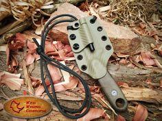 Izula 2 kydex sheath by Red Rhino Customs Knife Holster, Tactical Knife, Holsters, Kydex Sheath, Knife Sheath, Survival Weapons, Survival Knife, Outdoor Survival Gear, Tac Gear