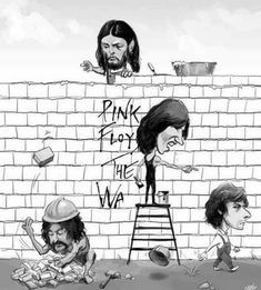 Pink Floyd the Wall. Imagenes Pink Floyd, The Beatles, Pink Floyd Artwork, Arte Pink Floyd, Musica Punk, Photos Vintage, David Gilmour Pink Floyd, Digital Foto, Classic Rock Bands