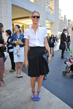 New York Fashion Week, black and white