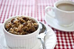 Clean Eating Slow Cooker Overnight Oatmeal... apples instead of raisins
