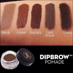 Anastasia Dipbrow for eyebrows in any shade Makeup Swatches, Makeup Dupes, Makeup Kit, Love Makeup, Makeup Cosmetics, Hair Makeup, Makeup Style, Color Swatches, Eyebrow Makeup